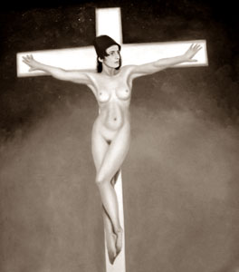 The Crucifixion of Ayn Rand - Click for large image